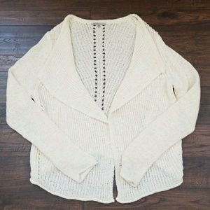 Gap knitted ivory/off white open front cardigan